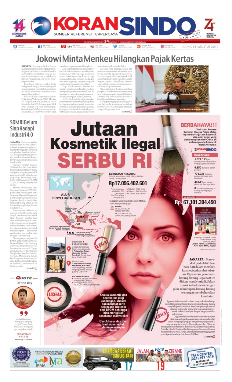 Koran Digital Koran Sindo 15 Agustus 2019