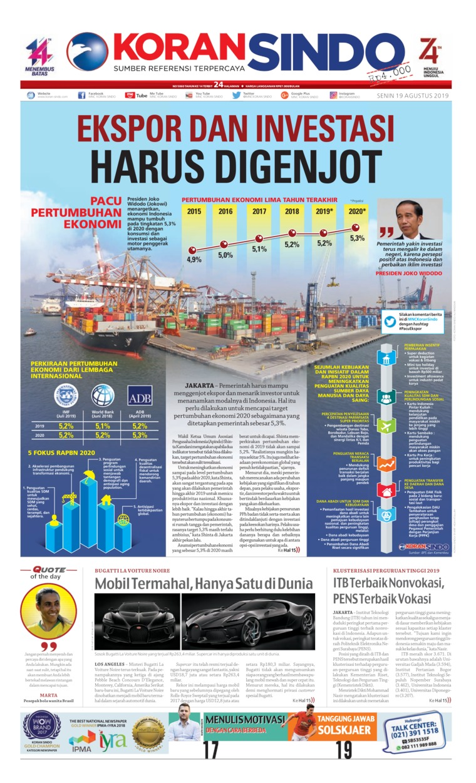 Koran Sindo Digital Newspaper 19 August 2019