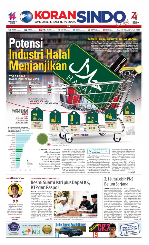 Koran Digital Koran Sindo 22 Agustus 2019