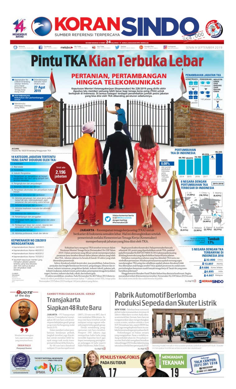 Koran Sindo Digital Newspaper 09 September 2019