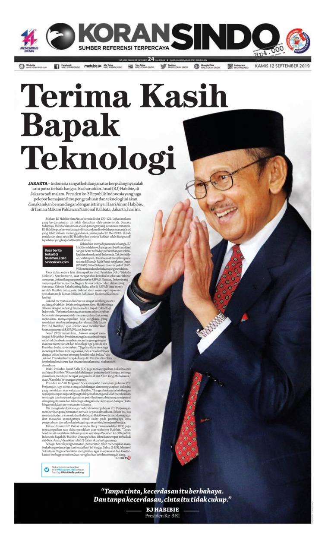 Koran Sindo Digital Newspaper 12 September 2019