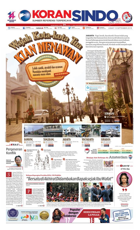 Koran Sindo Digital Newspaper 13 September 2019