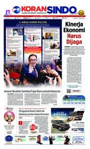 Cover Koran Sindo 17 Mei 2018