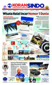 Cover Koran Sindo 22 Mei 2018