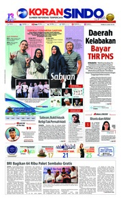 Cover Koran Sindo 06 Juni 2018