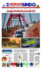 Cover Koran Sindo 10 Juni 2018