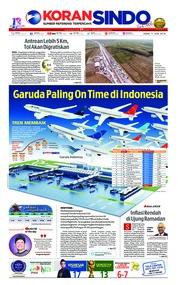 Cover Koran Sindo 11 Juni 2018