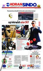 Cover Koran Sindo 12 Juni 2018
