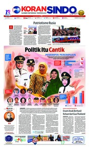 Cover Koran Sindo 09 Juli 2018