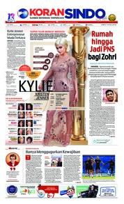 Cover Koran Sindo 14 Juli 2018