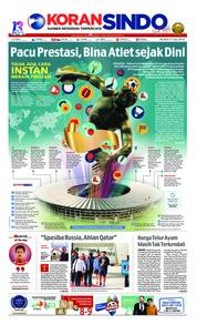 Cover Koran Sindo 17 Juli 2018