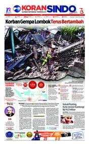 Cover Koran Sindo 07 Agustus 2018