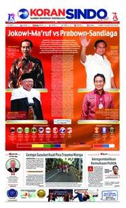 Cover Koran Sindo 10 Agustus 2018