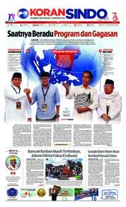 Cover Koran Sindo 11 Agustus 2018