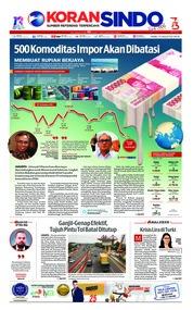 Cover Koran Sindo 15 Agustus 2018