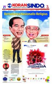 Cover Koran Sindo 16 Agustus 2018