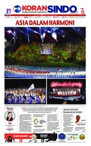 Cover Koran Sindo 19 Agustus 2018