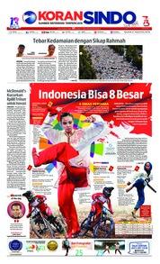 Cover Koran Sindo 21 Agustus 2018