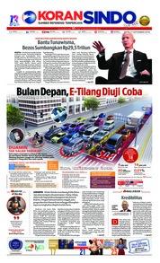 Cover Koran Sindo 17 September 2018