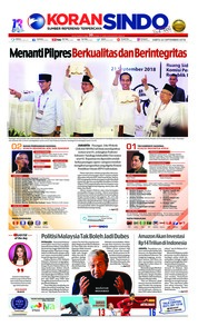 Cover Koran Sindo 22 September 2018