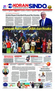 Cover Koran Sindo 24 September 2018