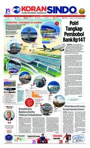 Cover Koran Sindo 25 September 2018