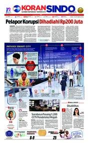 Cover Koran Sindo 10 Oktober 2018