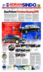 Cover Koran Sindo 16 Oktober 2018