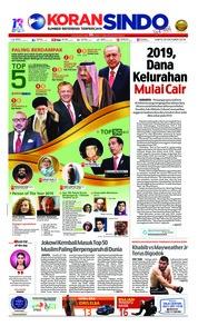 Cover Koran Sindo 20 Oktober 2018