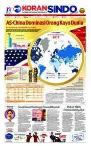 Cover Koran Sindo 21 Oktober 2018