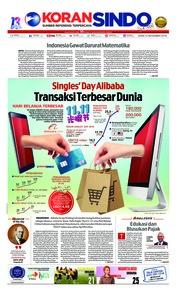 Cover Koran Sindo 12 November 2018