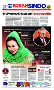 Cover Koran Sindo 16 November 2018