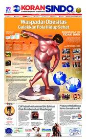 Cover Koran Sindo 18 November 2018