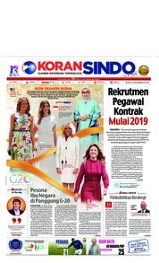 Cover Koran Sindo 03 Desember 2018