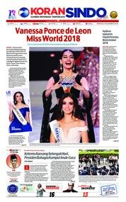 Cover Koran Sindo 09 Desember 2018