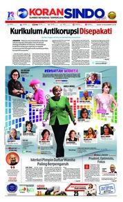 Cover Koran Sindo 10 Desember 2018