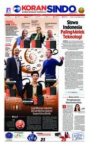 Cover Koran Sindo 12 Desember 2018