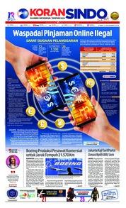 Cover Koran Sindo 13 Desember 2018