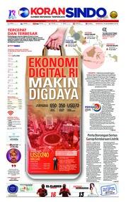 Cover Koran Sindo 16 Desember 2018