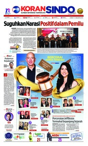 Cover Koran Sindo 11 Januari 2019