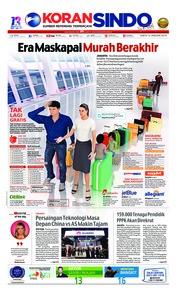 Cover Koran Sindo 12 Januari 2019