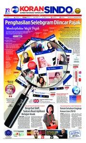 Cover Koran Sindo 15 Januari 2019