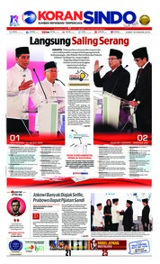 Cover Koran Sindo 18 Januari 2019