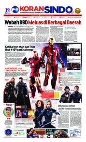 Cover Koran Sindo 22 Januari 2019