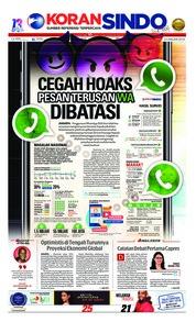 Cover Koran Sindo 23 Januari 2019