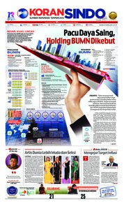 Cover Koran Sindo 04 Februari 2019