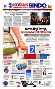 Cover Koran Sindo 06 Februari 2019