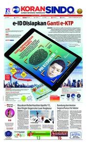 Cover Koran Sindo 09 Februari 2019