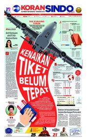 Cover Koran Sindo 13 Februari 2019