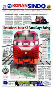 Cover Koran Sindo 21 Februari 2019
